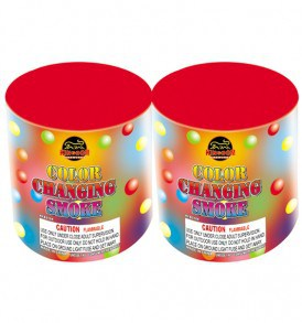 can of smoke color changing